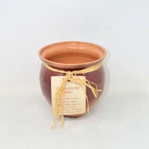 Terracotta Vase Lendava,height 15 Cm