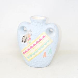 Ceramic Vase Light Blue 25 Cm Tall