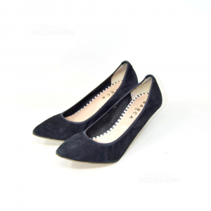 Pointed-toe Pump Woman Boat N° 40 Black In Leather Suede