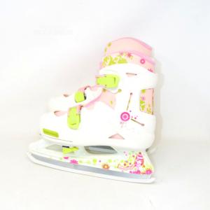 Ice Skates Orxelo White Girl Extendable From N°.36 - N°.40