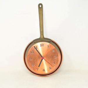 Orologio Da Taverna Funzionante, Padella Di Rame, 18 Cm Diametro