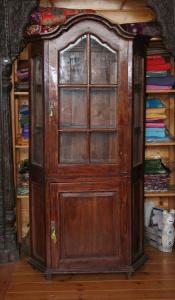 Vetrinetta antica indonesiana in legno di teak