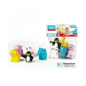 General Trade Gioca Gomma 5 Animali Giocattolo di Gomma per Neonato Baby Colori ASSORTITI