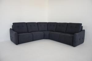 LENOR - Divano letto angolare con seduta relax elettrica e presa USB