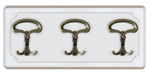 Lacquered hat and coat rack 4 hooks - PROMO