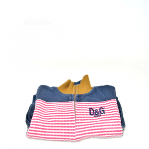 Sweatshirt Boy D & G Original Size 92 Blue White Red