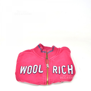 Sweatshirt Boy Red Woolrich 2 Years