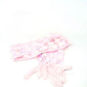 Scarf Pink With Hair Liu Jo