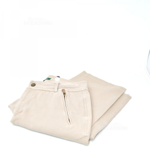 Trousers Woman Beige Ralph Lauren Size 44 Original
