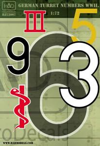 German turret numbers