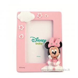 Portafoto Rosa con Minnie Disney in resina 9x12 cm - Bomboniera bimba