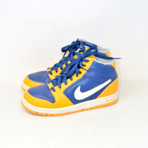 Shoes Boy Nike Yellow Blue N° 36.5
