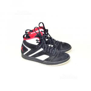 Shoes Nike Boy Black White Red Jordan N° 36.5