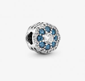 Charm Fiore blu scintillante