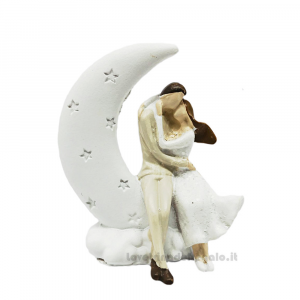 Sposi sulla luna in resina 5.5 cm - Bomboniera matrimonio