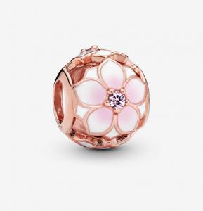 Charm Magnolia rosa openwork
