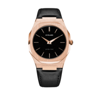 Orologio D1 Milano,  ULTRA THIN LEATHER 40 MM ROSE GOLD