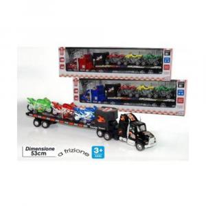General Trade I Super Camion Con Rimorchio Colorati A frizione Bambino Con Quad Giocattolo