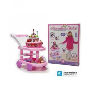 General Trade Il Carrello Dei Dolci Rosa Per Bambine Giocattolo con Ruote Con Accessori Torte/Dolci/CupCakes