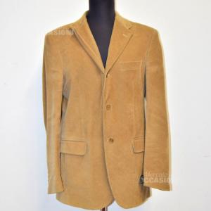 Jacket Man Koan Size.50 Velvet Ribbed Color Hazelnut