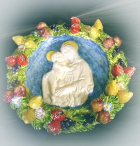 Robbiane in ceramica artistica L. 45 cm