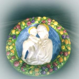 Robbiane in ceramica artistica L. 25 cm