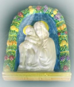 Robbiane in ceramica artistica 33X25 cm