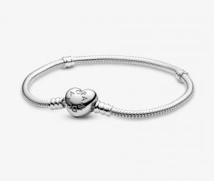 Bracciale Moments – Maglia snake con chiusura a cuore – 18