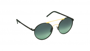 Occhiali da sole Mediterraneo asta nera e oro lente verde