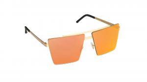 Occhiali da sole Mediterraneo asta oro lente arancione