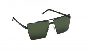 Occhiali da sole Mediterraneo asta nera lente verde