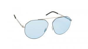 Occhiali da sole Mediterraneo asta color palladio lente azzurra