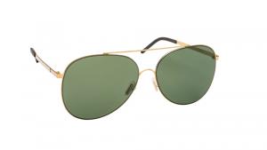 Occhiali da sole Mediterraneo asta oro lente verde