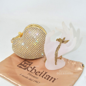 Bag Woman Shape Of Heart With Brilliant Of Scheilan Made In Italy Florence