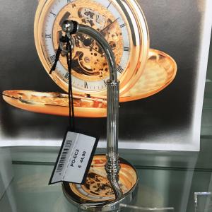 base in acciaio porta orologio da tasca
