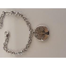 bracciale in argento 925 Vida Mea di S'Ave Maria con Corbula e albero della vita.