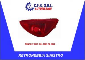 RETRONEBBIA SINISTRO RENAULT CLIO DAL 2009 AL 2012