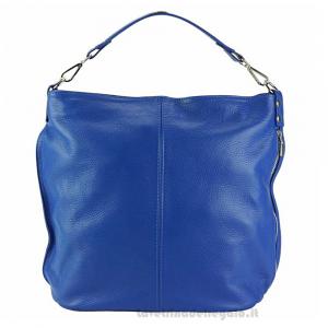 Borsa Blu Elettrico a Mano con tracolla in pelle - Donata - Pelletteria fiorentina