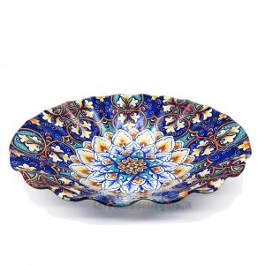 Piatto coppa Onda Design Maioliche in vetro 28 cm - Idea Regalo