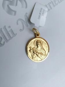 Ciondolo Santa Teresa in oro giallo 18 kt 750% Pendant yellow gold 18 kt  15/20