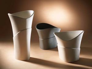 Scultura  Design Vaso in grès porcellanato Lineasette VM633B Made In Italy