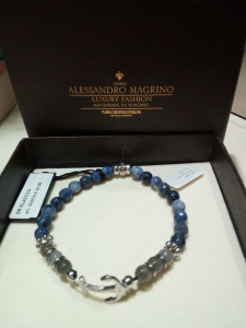 Bracciale Maria Cristina Sterling Argento Sodalite e Labradoralite G3014