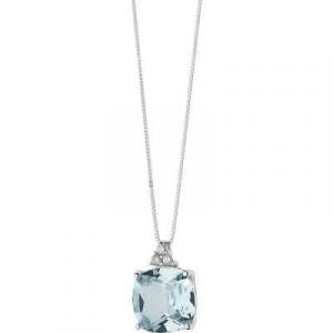 Collana oro bianco 750% con topazio diamanti Comete Gioielli GLB1348