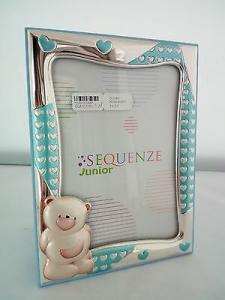 Cornice bimbo laminata argento Sequenze Junior cod. SQ5001/9C