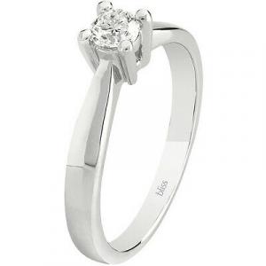 Anello Donna solitario Bliss Dream in oro bianco con diamante 20077652