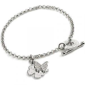 Bracciale donna con doppio charm farfalla Jack&Co Coll. Dream cod.JCB0588