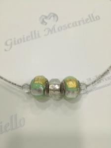 Collana donna La Murrina classica con pietre murano verde oro Listino 49,90