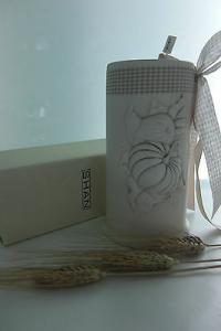 Portabicchieri in ceramica Shan con decorazioni Dolcelatte cod.F103.11