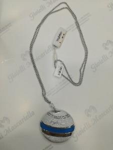 Collana donna lunga  Byblos cod. 9504 in acciaio con swarovski