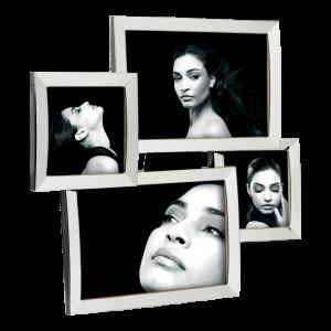 Cornice portafoto multiplo in metallo Mascagni per n. 4 foto m470